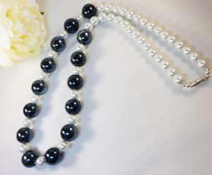 Costume Jewellery - Black and White Necklace