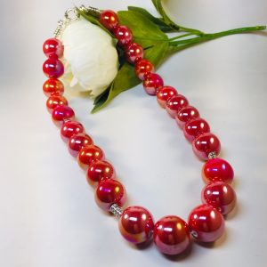 Costume Jewellery - Sylvie Red Necklace