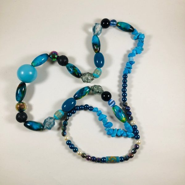 Costume Jewellery Exotic mixed Glass and acrylic beads necklace