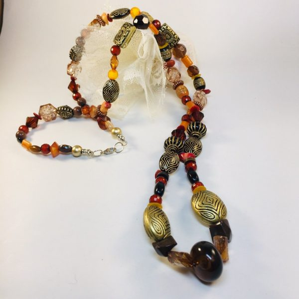 Costume Jewellery - mixed acryllic and wooden beads necklace