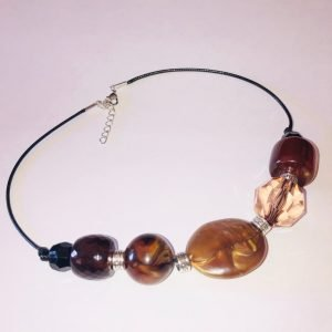 Costume Jewellery - brown Chunky Beads necklace