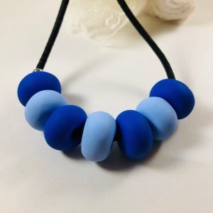 Costume Jewellery Polymer Clay Beads Necklace Blue
