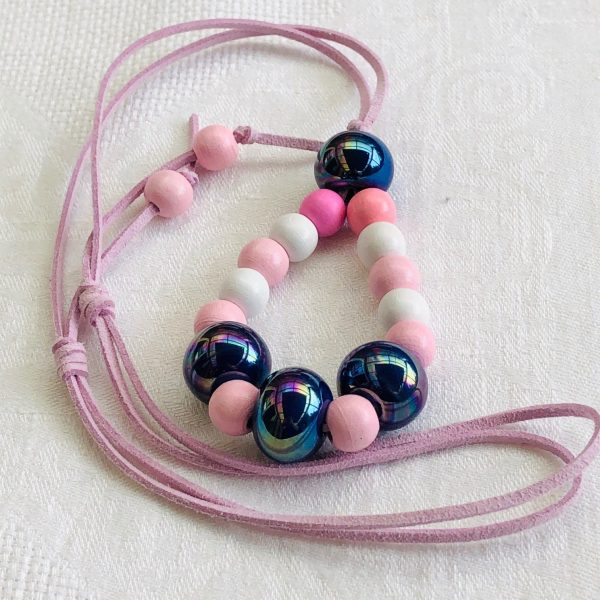 Costume Jewellery - Purple Paradise Wooden and ceramic Beads selection Necklace