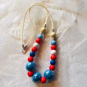 Costume Jewellery - Mandeville wooden and ceramic beads necklace